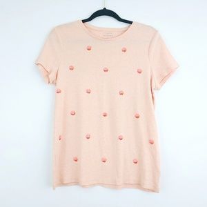 The Talbots Tee Sequin Dots Top Size Large